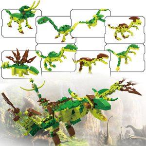 8 IN 1 COGO 25 Former Dinosaurs Byggstenar DIY Leksaker