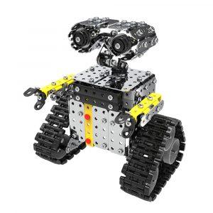 Mofun DIY Rostfritt Stål RC Robot Glidande Block Byggnad Robot Toy