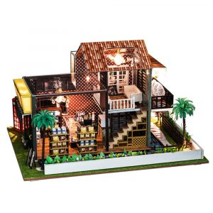 iiE CREATE K-035F Cafe Dockhus DIY House Spela Dockhus Wooden