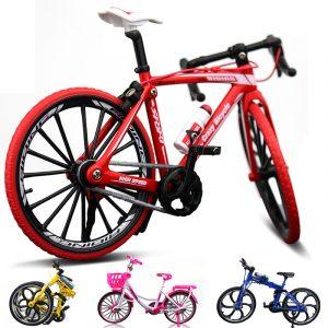 1:10 Diecast Cykelmodell Leksaker Bend Racing Cykel Cross Mountain Bike Present Insamling