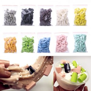 Partihandel 70st Sponge Strip DIY Slime Clay Tillbehör Tillbehör Leksaker Set