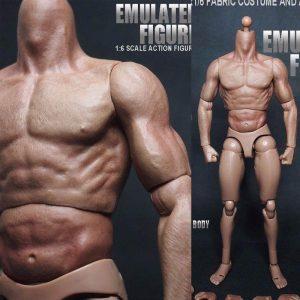 """1/6 Scale Action Figur Manlig Naken Muskulös Kropp 12 """"Plastleksaker för TTM18 / 19"""