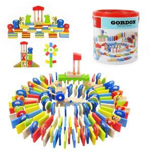 Topp Bright-6995 150st- blockera Domino Värma elefanter Roligt Klubbar Pedagogisk Leksaker