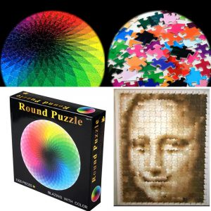 1000 Grain Intelligent Round Pusselspel för vuxna barn Plastic Baby Kids Educational Leksaker