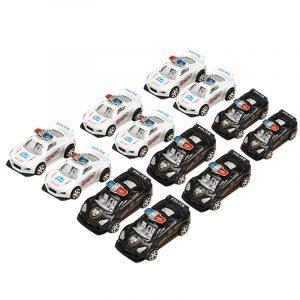 12xHZ Slide Racing Billeksaker med lätt polisbil Färg Slumpmässig