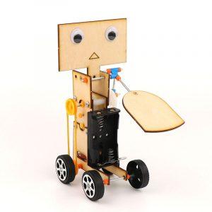 DIY Educational Electric Walking Swing Fan Robot Scientific Uppfinning Leksaker