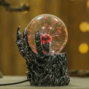 5,5 tums plasma boll skelett sfär ljus kristall ljus magisk skrivbord lampa nyhet ljus heminredning