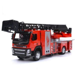 1:50 Scale Diecast Modell Motorbilteknik Bilmodell Med Ljud & Ljus