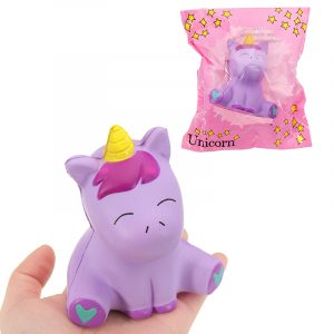 Unicorn Squishy 10,5 * 8,5 cm långsammare med Packaging Collection Gift Soft Toy