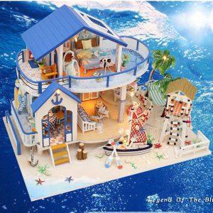 Hoomeda Legend Of The Blue Sea DIY Dockhus Miniatyr Modell Med Lätt Musik Samling G