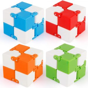 Z5 Plastic Cube Ångest Stress Relief Fidget Focus Vuxna Barn Attention Therapy Leksaker
