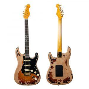 22 Frets SRV Electric Guitar Eged Hårdvara Alder Body Rosewood Fingerboard Music Instrument