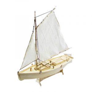 Feilaite trä segelbåt Montering modell utrustning laserskärning bearbeta DIY Leksak