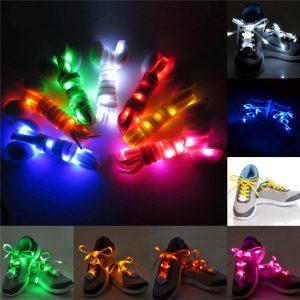 1 par Nylon LED blinkande ljus upp glödsko