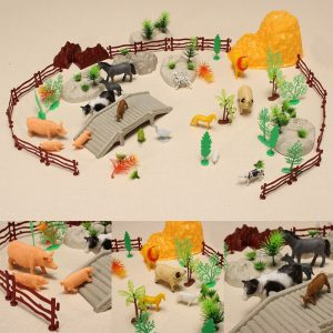 YC 666E-99 100PCS Farm Pig Duck Horse Sheep Modell DIY Scene Toy