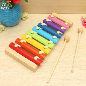 Barnleksaker 8 noterar musikaliskt xylofonisk piano träinstrument för barn