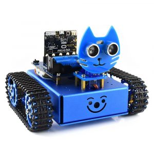 WaveShare DIY Micro: bit STEAM Smart RC Robot Car Porgrammable Bluetooth Control Track Undvik Hindring