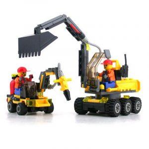 Byggnad Blocks grävmaskin Utbildningsgåva # 6092 Fidget Leksaker 192st
