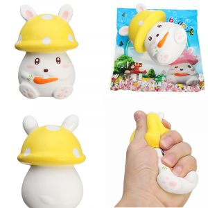 Squishy långsam stigande 12,5 cm champinjon morot kanin telefonband remsa hänge Toy Original Packaging