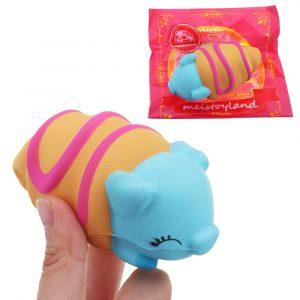 Meistoyland Squishy 8cm Kawaii Cartoon Animal Slow Rising Squeeze Toy Stress Presentsamling