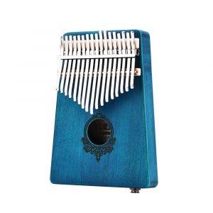 17 tangenter Afrikansk Mahogany Wood Finger Mbira Kalimba Tangentbord Thumb Piano Finger Percussion Instrument