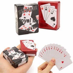 Små Mini Miniature Travel Pocket Playing Poker Cards