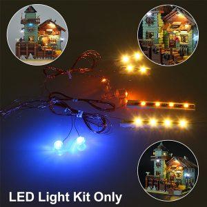 Ljus Upp Utrustning för Lepin 16050 Gammal Fiske Lagra Byggnad Modell Lätta Delar för blockera Leksak Dockhus