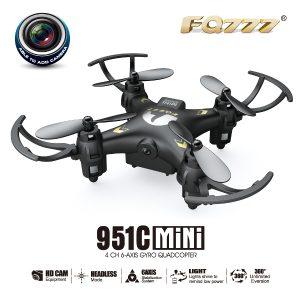 FQ777-951C MINI Med 0.3MP kamerahuvudläge RC Quadcopter RTF