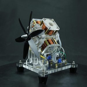 Stark Hall Sensor Borstlös Motor Elektrisk Maskin Fläktblad Höghastighets DIY Physical Model Science Toy