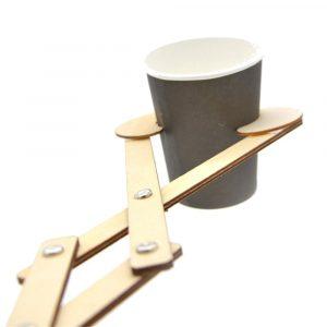 Nå ut Trä Robot Arm Grabber Nyheter Leksaker Scissor Flexibel Rolig Toy