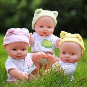 30cm nyfödd baby docka gåva leksak mjuk vinyl silikon levande nyfödd barntoddler tjej