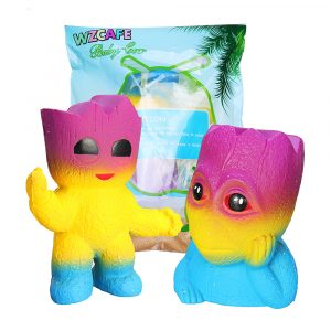 Tree Man Squishy 12.8 * 11cm Mjukt långsamt stigande med Packaging Collection Gift Toy