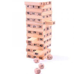 Trä Torn Byggnad Blockera Leksak Leksak Domino 54 Stacker Extrahera Spel Ungar Pedagogisk jul Gåvor