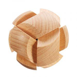Kong Ming Lock Leksaker Barn Kids Assembling Utmaning 3D Puzzle Cube IQ Brain Wooden Toy