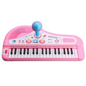 37 Tangentbord Mini Elektroniskt Multifunktionellt Piano Med Mikrofon Utbildnings Toy Piano För Barn