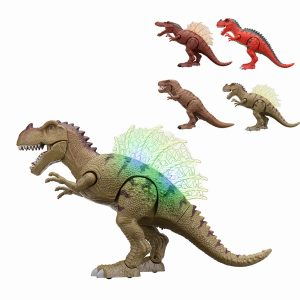 Walking Dinosaur Spinosaurus Light Up Barnleksaker Figur låter Real Movement LED med projektion