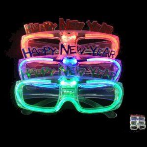 LED-solglasögon Glasögon Ljusa nyanser Blinkande Raveglasögon Festgardiner Glödande Leksaker
