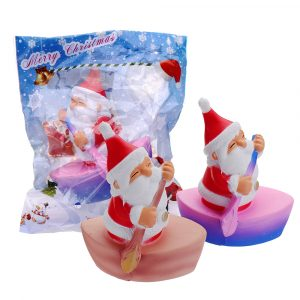 Cooland Christmas Rowing Man Squishy 12,4 × 10,2 × 7,5 cm Mjukt långsamt stigande med Packaging Collection Gift