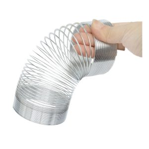 Classic Metal Rainbow Magic Circle Silver Elasticitet Slinky 3.8 * 6cm Nyhet Leksaker