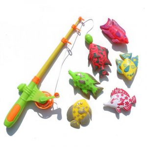 7 / 12st Magnetic Fishing Tools Kit Fish Vegetable Blocks Leksaker för barnens presentsamling