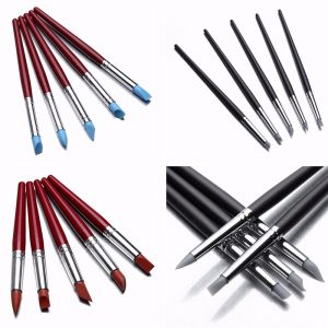 5PCS Clay Sculpting Wax Carving Pottery Tools Modellering Birch Handle Kit Shapers