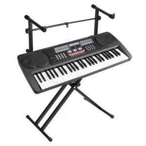 2-tangent X-stil Justerbar tangentbordsställning Folding elektronisk pianohållare