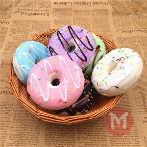 10cm Söt Donuts Stor Bröd Charms Kawaii Squishy Mjukt Väska Nyckelring Remsor Inredning