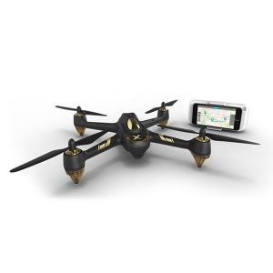 Drönare,FPV borstlös med 1080p HD-kamera Drönare, Hubsan X4 AIR H501A MIFI, GPS-vägpunkt RC Quadcopter RTF APP Kontrol Svart & Guld