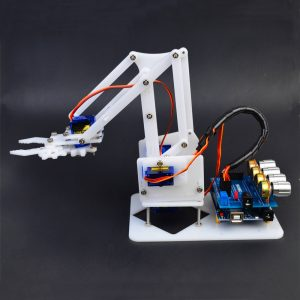DIY 4DOF Arduino RC Robot Arm Utbildnings Kit Med SG90 Servos White