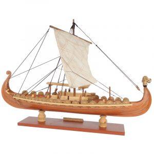 Drakkar drake Viking Segelbåt Montering Modell Utrustning Laserskärnings bearbeta DIY Leksak