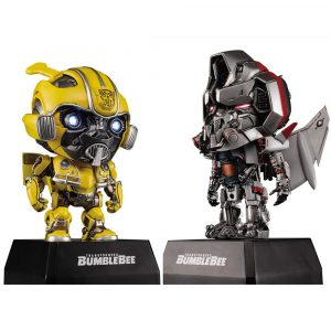 Killerbody KB20069-1 2PCS Bumblebee + Blitzwing Car W / Högtalare Audio Transformers Action Figur Leksaker Presentsamling Original