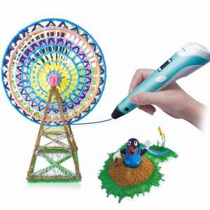 Smart 3D Ritning Utskrift Pen Barn DIY Måleri Konst Lärande Utbildnings Pussel Leksaker Presentsamling