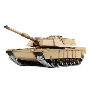 Heng Lång 3918-1 1/16 2.4G M1A2 Rc Car Slagtank Metal Spår med Sound Smoke Toy