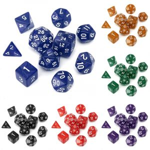 10pc / Set TRPG-spel Gaming Tärningar D4-D30 Multisidiga Tärningar 6Color